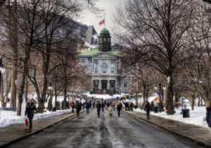 The main entrance to McGill University in Montreal